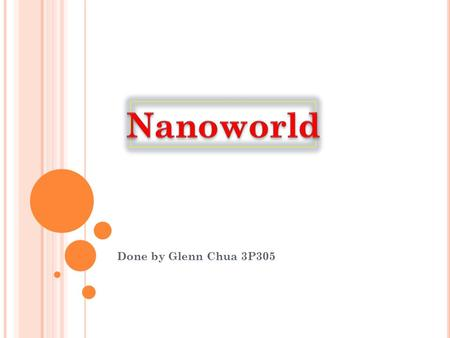 Nanoworld Done by Glenn Chua 3P305.