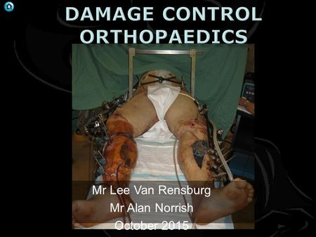 Mr Lee Van Rensburg Mr Alan Norrish October 2015.