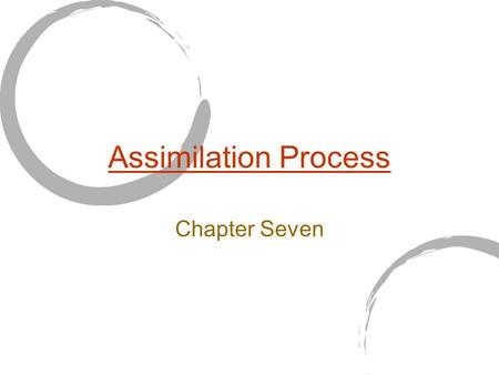 "Assimilation Process Chapter Seven. What is Assimilation? Jablin: Assimilation is ""those ongoing behavioral and cognitive processes by which individuals."