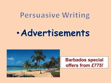 Advertisements Barbados special offers from £775!.