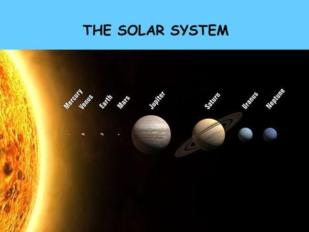 THE SOLAR SYSTEM. UNITS OF MEASURMENT IN ASTRONOMY ASTRONOMICAL UNIT, AU = 93,000,000 MILES = 150,000,000 km = AVERAGE DISTANCE FROM EARTH TO THE SUN.