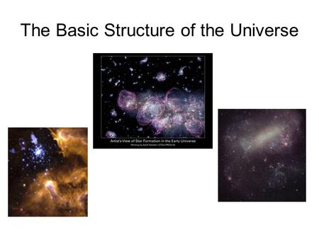 The Basic Structure of the Universe. What is the Universe? All matter and energy, including the earth, all the galaxies, and the contents of intergalactic.