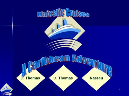 1 St. Thomas Nassau 2 Are You Ready? 3 St. Thomas, U.S. Virgin Islands 60 miles east of Puerto Rico 60 miles east of Puerto Rico 32 square miles 32.