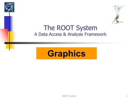 ROOT courses1 The ROOT System A Data Access & Analysis Framework Graphics.