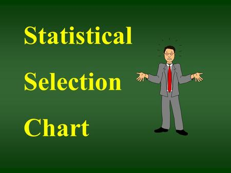 Statistical Selection Chart. For 2 samples ASK You say you want to compare! How many samples? Are my samples related? OR Are they independent?