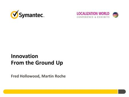Innovation From the Ground Up Fred Hollowood, Martin Roche.
