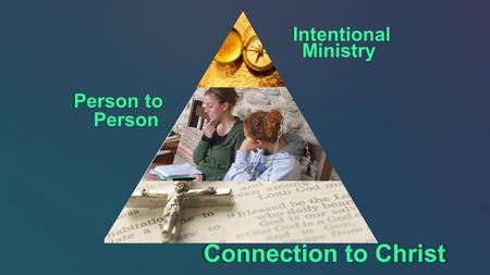 Connection to Christ Person to Person Person IntentionalMinistry.