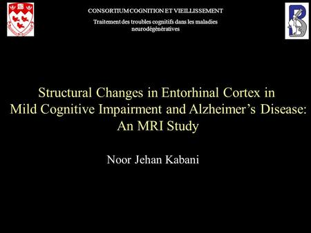 Structural Changes in Entorhinal Cortex in