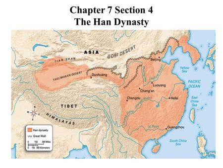 Chapter 7 Section 4 The Han Dynasty. The Han Dynasty When the Qin dynasty collapsed in 207 BC, several different groups battled for power. After several.