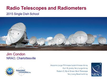 Radio Telescopes and Radiometers