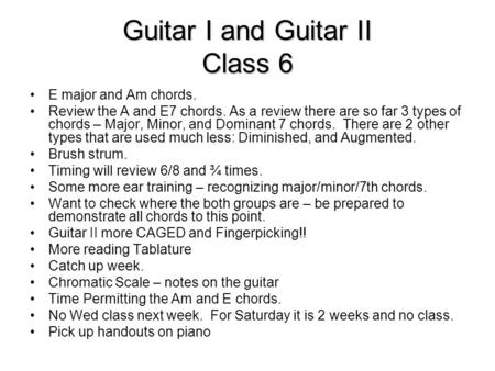 major minor guitar chords