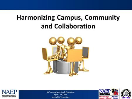 90 th Annual Meeting & Exposition April 3 – 6, 2011 Memphis, Tennessee Harmonizing Campus, Community and Collaboration.