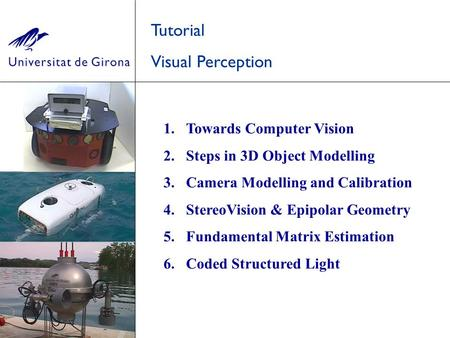 Tutorial Visual Perception Towards Computer Vision