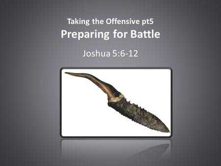 Taking the Offensive pt5 Preparing for Battle Joshua 5:6-12.