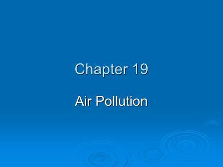 Pollution air presentation pdf
