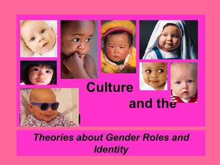 Culture and the Individual Theories about Gender Roles and Identity.