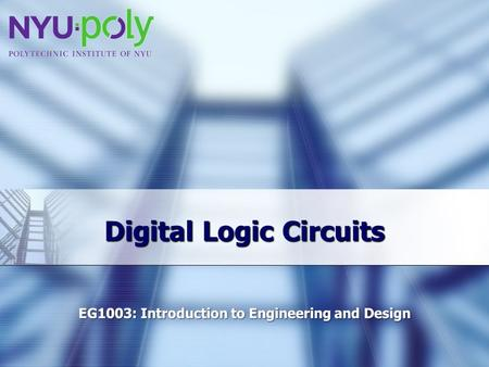 Digital Logic Circuits. Overview  Objectives  Background  Materials  Procedure  Report / Presentation  Closing.
