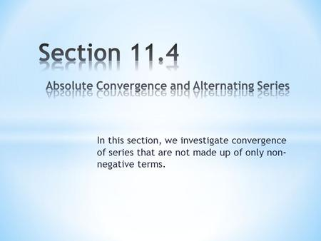 Show alternating series converges