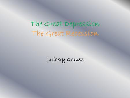 great recession and great depression The great depression followed a sharp decline in stock market prices a recession in japan and a ruling against microsoft in an anti-trust case probably bust the dotcom bubble in 2000.