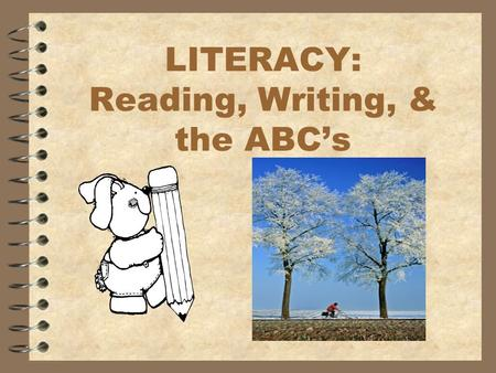 LITERACY: Reading, Writing, & the ABC's. Nonsense Stories #1 and 2 Use the formula to create another version of a story: 1. Name a person or animal. 2.