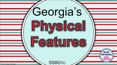 Georgia's Physical Features SS8G1c © 2015 Brain Wrinkles.