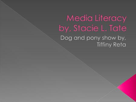 " Media literacy changes what it means to be literate within the 21 st century.  Literacy is not just known as a ""book culture"" anymore.  Media literacy."