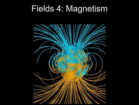 Fields 4: Magnetism. N S What is Magnetism? Another force that exists around moving charged objects. e N S.