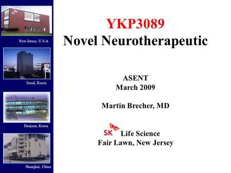Novel Neurotherapeutic