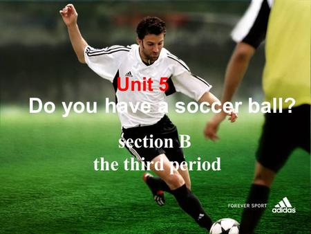 Unit 5 Do you have a soccer ball? section B the third period.