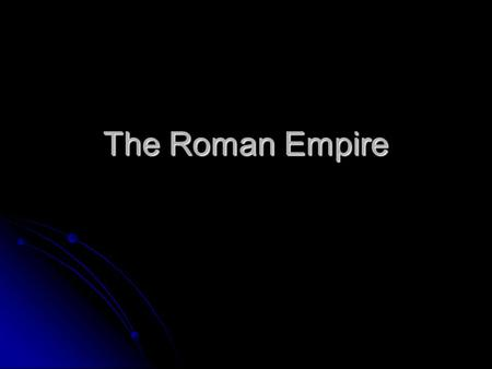 The Roman Empire. The Result of the Assassination After Caesar's assassination, three men took control of Rome forming the 2 nd Triumvirate. After Caesar's.