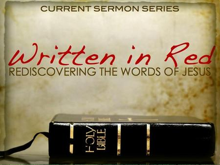 Written in Red: You shall receive power and be my witnesses.