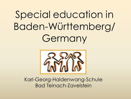 Special education in Baden-Württemberg/ Germany