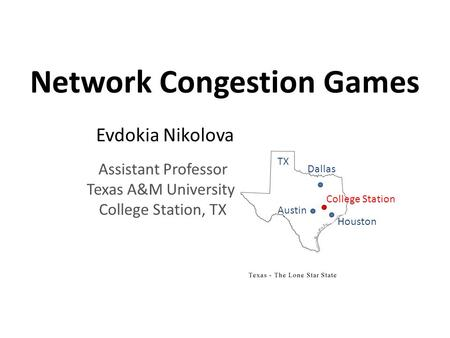Network Congestion Games