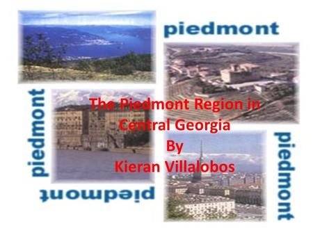 The Piedmont Region in Central Georgia By Kieran Villalobos.