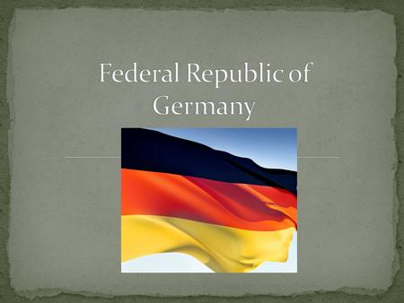 Germany is a federal parliamentary democratic republic governed by a bicameral legislature: - Bundestag – the lower house - Bundesrat – the upper house.