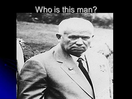 Who is this man?. Nikita Khrushchev Lesson Objectives  To identify the key features of Destalinisation.  To produce a clear definition of the concept.