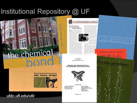 Ufdc.ufl.edu/ufir Institutional UF. The Institutional Repository at the University of Florida is the digital archive for the intellectual.