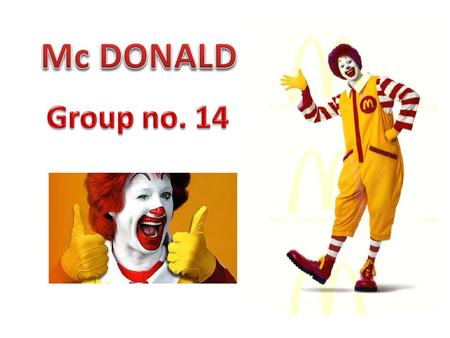 Mc DONALD Group no. 14.