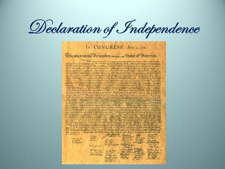 Declaration of Independence. Colonists who did not wish to remain British subjects declared themselves Patriots Those who remained faithful to England.