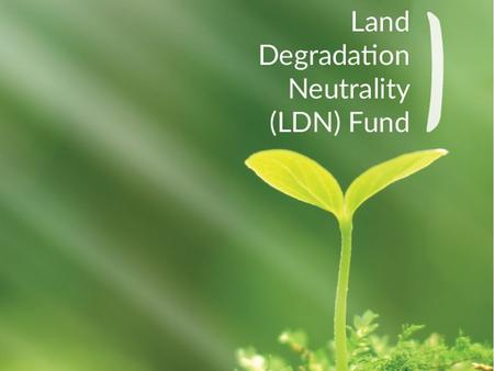 1. WHAT IS THE LDN FUND In order to achieve LDN by 2030 there is a need to mobilize large amounts of financial resources for land rehabilitation. The.