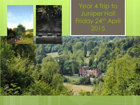 Year 4 Trip to Juniper Hall Friday 24 th April 2015.