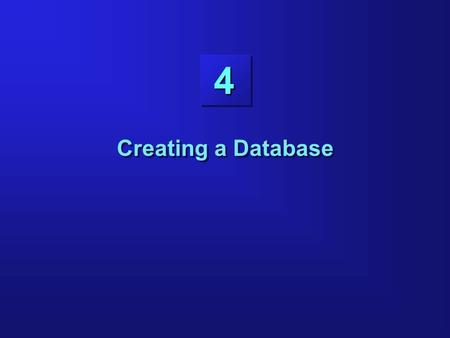 44 Creating a Database. 4-2 Objectives Preparing the operating system Preparing the parameter file Creating the database Preparing the operating system.