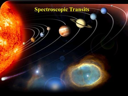 Spectroscopic Transits