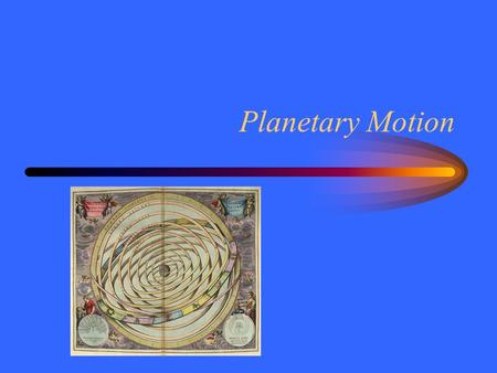 Planetary Motion. Wanderers The Sun, Moon and planets appear to move relative to the stars. Planetary motion is confined to the ecliptic. –Generally west.