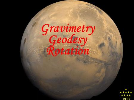 Gravimetry Geodesy Rotation