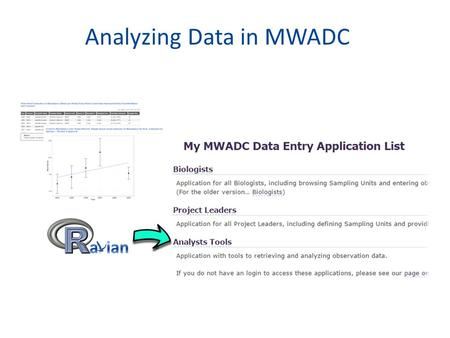 Analyzing Data in MWADC. Outline What is Ravian and what is the Analyst application? Accessing the Analyst application What you can do with the Analyst.