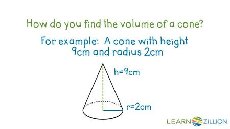 how to find the volume of a cone without height