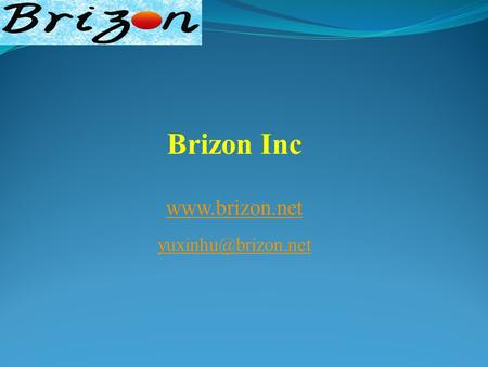 Brizon Inc  Products: Microelectronic Application CMP Slurry additive CMP cleaning solutions Wafer storage buffer solution.