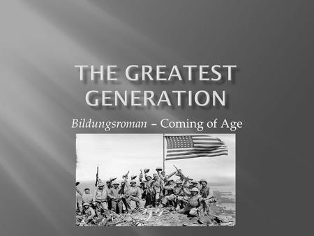 "Bildungsroman – Coming of Age.  ""World War II came to a chaotic but welcome end.... The heart of Europe was in ruins.... In places called Auschwitz and."