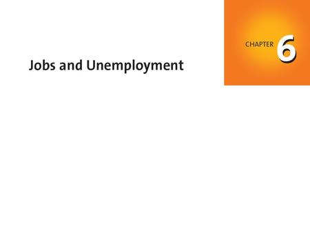 When you have completed your study of this chapter, you will be able to C H A P T E R C H E C K L I S T Define the unemployment rate and other labor market.